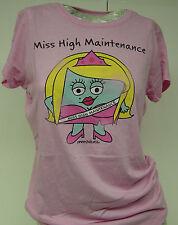 NEW Womens Juniors DAVID & GOLIATH Miss High Maintenance Pink T-Shirt