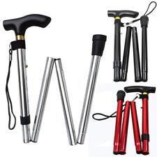 Lightweight Easy Folding Aluminium Adjustable Walking Stick With Strap