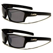 Locs Rectangle Fancy Logo Letter Men's Sunglasses