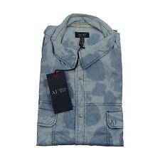 Armani Jeans Pattern military print H/S Shirt SZ: XXL & XXXL BNWT