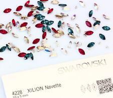 Genuine SWAROVSKI 4228 sventate XILION NAVETTE Fancy Stone CRISTALLI * Tutti i Colori