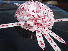 AUTO Gigante Cuore Dettaglio Fiocco, Extra Large regalo, articoli da regalo + SPEDIZIONE SUPERVELOCE!!!