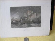 Vintage Print,DIEPPE,Meyers Universum,c1855,Steel Engraving