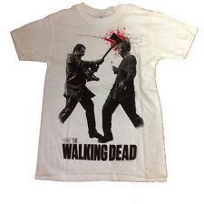 THE Walking Dead Ascia alla testa sangue imbrattato Maglietta Bianca-Fino a XXL 15f