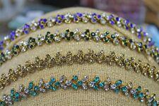 LadiesBeautiful Bridal PromDiamante Crystal Tiara Hijab Jewellery Head/Hair Band