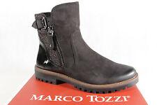 Marco Tozzi Stiefelette Stiefel, schwarz, Leder 25450  NEU!!