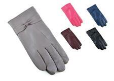 Ladies Womens Girls Genuine Leather Short Gloves Warm Fleece Lined Gift Size