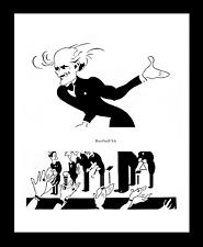 ARTURO TOSCANINI 1942-rpt Dmitri Shostakovich debut Conductor Caricature MATTED