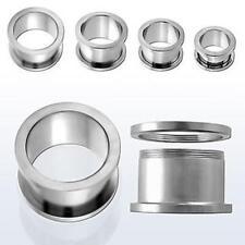 Chirurgico Flesh Tunnel Plug Piercing Orecchio Ear chirurghi acciaio .316 L 1,2mm - 19mm