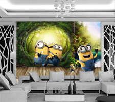 Ablaze Minions 3D Full Wall Mural Photo Wallpaper Printing Home Kids Decoration