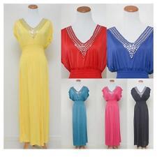 Maxi Sundress Chic V Neck Sequin Kimono Long Full Length Evening Gown S/M/L/XL