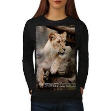 Africa Lion Safari Animal Women Long Sleeve T-shirt NEW | Wellcoda