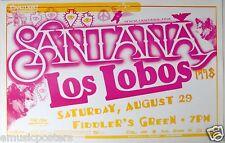 SANTANA / LOS LOBOS 1998 DENVER CONCERT TOUR POSTER - Latin Guitar Rock Music