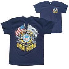 US Coast Guard USCG Crest American Flag Men's T-Shirt