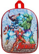 Marvel Avengers 3D Backpack Boys Superhero School Lunch Book Bag Rucksack Kids