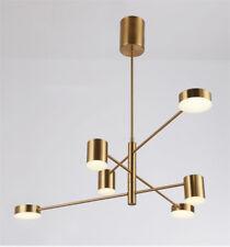 Modern Scandinavian style rotating metal chandelier living room ceiling light