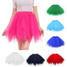 Womens Daily High Quality Pleated Gauze Short Skirt Adult Tutu Dancing Skirts U