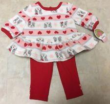 Child of Mine Infant Girl's 0-3, 3-6, 18 or 24M Soft Fleece & Legging Pant Set