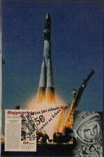 HUNGARY #4172 MAXIMUM CARD II 50th ANN of YURI GAGARIN MAIDEN FLIGHT into SPACE