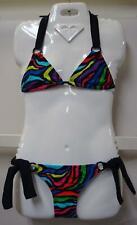 """NEW O'Neill Surfer Girls """"Zebra Party"""" 2 Piece Bikini Swimsuit Set"""