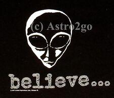 ALIENS / BELIEVE...-Glow in the dark 2 sided UFO Roswell E.T. T shirt NEW! S-XXL