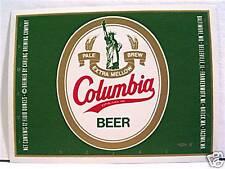 Columbia Beer Bottle Label Belleville Il Old Stock