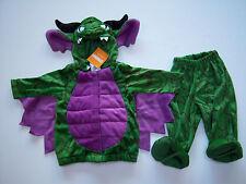 NWT Gymboree 6-12 Months Green & Purple Plush Flying Dragon Costume