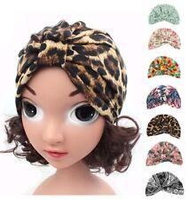 Baby Kids Muslim Stretch Hats Headscarf Printed Floral Inner Caps Hijab Turban