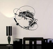 Vinyl Decal Fish Fishing Rod Hobbies Man Wall Stickers Mural (ig3597)