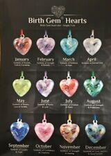 Friendship Hearts Birth Stone Gem Glass Handmade Birthday Display Stand Nobile