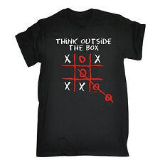 Pensar fuera de la caja para hombres Camiseta Camiseta Cumpleaños sarcástico inteligente irónico Gracioso