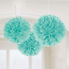 Light Blue Tissue Paper Pompoms Flower Wedding Party Decoration Pom Poms