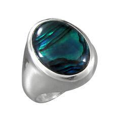 Schmuck-Michel Ring Silber 925 Paua-Muschel / Abalone Gr. 50-65 wählbar (9226)