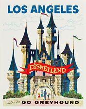 Vintage NOS Galgo entrenadores Disneylandia LOS ANGELES Turismo cartel A3 impresión