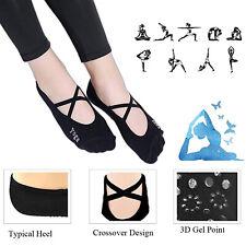 Girl's Yoga Socks Barre Socks Pilates Socks Toeless Non Slip Skid With Grips