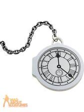 Oversized Pocket Watch White Rabbit Wonderland Tea Party Fancy Dress Accessory