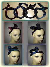 Cablato Head Fascia, Fascia di velluto-Filo Fascia per Capelli, 4 colori, Bendy Hairband