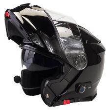 VIPER RS-V171 BLUETOOTH FLIP FRONT MOTORCYCLE MOTORBIKE HELMETS GLOSS BLACK