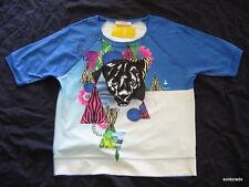 BIBA Maglietta con testa di Tigre serie blu luminoso tg. XS, M, XL NUOVO