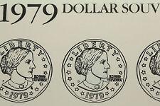 1979 S B Anthony Dollar Souvenir Set Choice UNC (3 $1.00 coins)