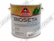 BOERO - BIOSETA ACQUA - 2,5 lt - TINTE CARTELLA - FINITURA PER LEGNO SATINATA