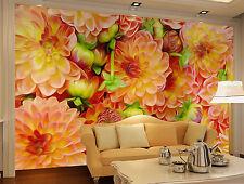 3D Blumen-Malerei 23 Fototapeten Wandbild Fototapete Bild Tapete Familie Kinder