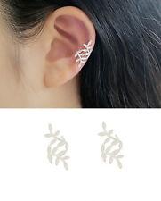 Ohrklemme Blätter echt Sterling Silber 925 Damen Ohrringe Ear Cuff ohne Loch