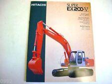 Hitachi EX200-5 Excavator Literature