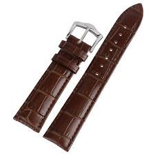 20/22mm Genuine Leather Watch Strap Brown Soft Wrist Band Bracelet HQ Men Sport