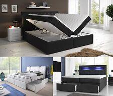 Boxspringbett mit zwei Bettkasten 140, 160 oder 180x200 weiß oder schwarz