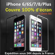 film protection écran VITRE EN VERRE TREMPE intégral total iPhone 6/S/7/8/plus/X