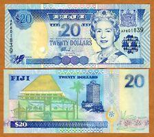 FIJI, 20 dollars, (2002) P-107, QEII, UNC