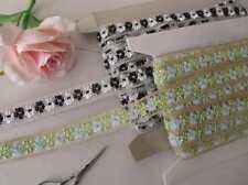Vert Bleu Or ou Noir Blanc Argent Joli crochet ruban bordure en dentelle 1 m