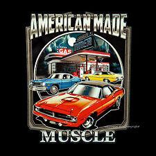 Muscle Car T-Shirt Mopar Dodge Classic Us-Car American 60s 70s 0045 Black